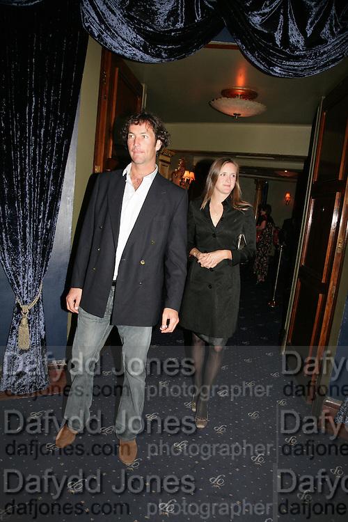 J.P. and Nina Clarkin, Guards Polo Club  reception. CafŽ de Paris, Coventry Street. London. 15 May 2007. -DO NOT ARCHIVE-© Copyright Photograph by Dafydd Jones. 248 Clapham Rd. London SW9 0PZ. Tel 0207 820 0771. www.dafjones.com.