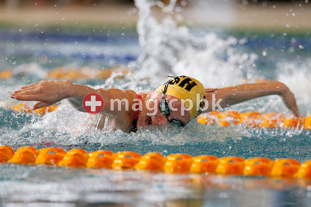 SCSH's Lisa STAMM of Switzerland swims the butterfly leg in the women's 200m Individual Medley (IM) Final during the Swiss Swimming Championships at the Hallenbad Oerlikon in Zuerich, Switzerland, Sunday, March 30, 2014. (Photo by Patrick B. Kraemer / MAGICPBK)