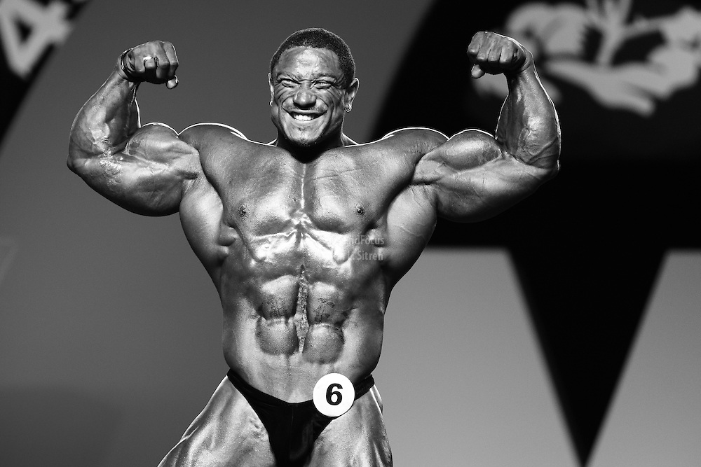 Roelly Winklaar competing at the 2010 Mr. Olympia finals in Las Vegas.