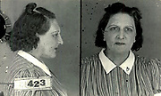 Prostitutes And Madams: Mugshots From When Montreal Was Vice Central<br /> <br /> Montreal, Canada, 1949. Le Devoir publishes a series of articles decrying lax policing and the spread of organized crime in the city. Written by campaigning lawyer Pacifique 'Pax' Plante (1907 – 1976) and journalist Gérard Filion, the polemics vow to expose and root out corrupt officials.<br /> <br /> With Jean Drapeau, Plante takes part in the Caron Inquiry, which leads to the arrest of several police officers. Caron JA's Commission of Inquiry into Public Morality began on September 11, 1950, and ended on April 2, 1953, after holding 335 meetings and hearing from 373 witnesses. Several police officers are sent to prison.<br /> <br /> During the sessions, hundreds of documents are filed as evidence, including a large amount of photos of places and people related to vice.  photos of brothels, gambling dens and mugshots of people who ran them, often in cahoots with the cops – prostitutes, madams, pimps, racketeers and gamblers.<br /> <br /> Photo shows: Marguerite Smith, 1940 – arrested several times between 1941 and 1943 for having run a brothel at 1225 de Bullion and having worked as a prostitute.<br /> ©Archives de la Ville de Montréal/Exclusivepix Media