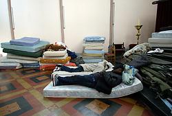 GHENT, BELGIUM - APRIL-18-2006 - Asylum seekers take refuge in Saint Antoine Catholic Church in Ghent, Belgium. (PHOTO © JOCK FISTICK)
