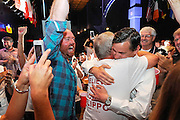 Scott Flippo celebrates after winning a election for the a seat in the Arkansas senate in June of 2014.