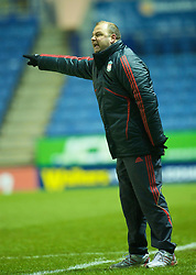LEICESTER, ENGLAND - Tuesday, January 12, 2010: Liverpool's manager Rodolfo Borrell against Leicester City during the FA Youth Cup 4th Round match at the Walkers Stadium. (Photo by David Rawcliffe/Propaganda)