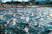 Ironman Triathlon, swimming, Kailua-Kona, Big Island of Hawaii