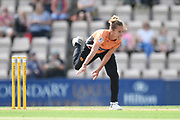 Tash Farrant of Southern Vipers bowling during the Women's Cricket Super League match between Southern Vipers and Western Storm at the Ageas Bowl, Southampton, United Kingdom on 11 August 2019.