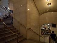 Tairs to the dining concourse at Grand Central Terminal, New York City.