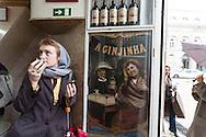 Portugal . Lisbon. cafe A; ginjinha , cafe where you drink cherry brandy  Lisbon  Portugal