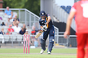 Derbyshires Calum MacLeod during the Vitality T20 Blast North Group match between Lancashire Lightning and Derbyshire Falcons at the Emirates, Old Trafford, Manchester, United Kingdom on 14 July 2018. Picture by George Franks.