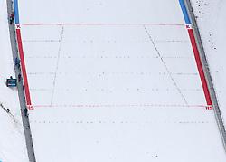 08.01.2015, Kulm, Bad Mitterndorf, AUT, FIS Ski Flug Weltcup, Einfliegen der Schanze, im Bild K-Punkt und Hillsize-Linie der Schanze // K-point and Hillsize-line during the FIS Ski Flying World Cup at the Kulm, Bad Mitterndorf, Austria on on 2015/01/08. EXPA Pictures © 2015, EXPA/ Martin Huber