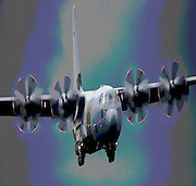 Hercules plane landing