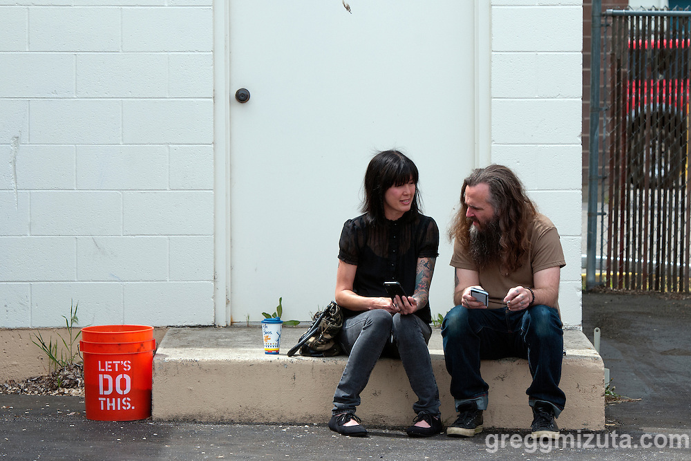 Pixie Merrick and Brett Netson outside at the Boise Hive during Wild Love Preserve's Wild Freedom on April 24, 2016 in Boise, Idaho. (Gregg Mizuta/greggmizuta.com)<br /> <br /> Three Gunas, Ryan Curtis, Tag Along Friend, 2x2, Phonetic, Fleet Street Klezmer Band, Bijouxx, a.k.a. Belle, Idyltime, Brett Netson, Tracy Morrison, Julia &amp; the Jumpscares.