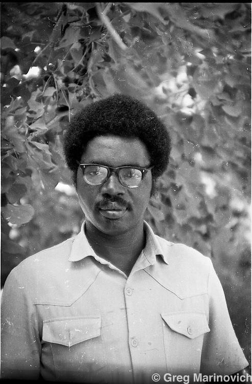 Guerilla. 1985/6 Caprivi Strip SWA. One of the underground CANU leadership. Photo Greg Marinovich
