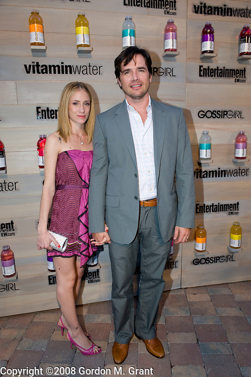 Sag Harbor, NY - 8/16/08 -   Gossip Girl cast member Matthew Settle with wife Maama Natev Settle at the vitaminwater Hamptons Premiere Bash at the EMM Group Estate for the CW Network's Gossip Girl in Sag Harbor, NY, August 16, 2008.  (Photo by Gordon M. Grant / Splash News)