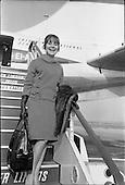 1966 - Etta Murphy, Canadian actress arrives at Dublin Airport