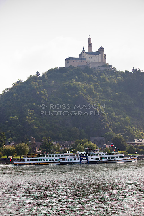 Cruising up the Rhine river on the Viking ship Helvetia.