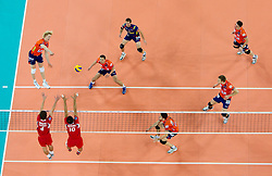 14-12-2010 VOLLEYBAL: CHAMPIONS LEAGUE ACH VOLLEY - OLYMPIACOS: LJUBLJANA SLOVENIA<br /> Kay van Dijk of ACH during volleyball match between ACH Volley (SLO) and Olympiacos (GRE) in 4th Round of 2011 CEV Champions League<br /> ©2010-WWW.FOTOHOOGENDOORN.NL