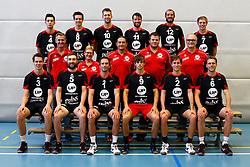 20140918 NED: Teampresentatie Prins VCV 2014 - 2015, Veenendaal<br /> Bovenste rij, Niki Samardzic (4), Chris Ogink (8), Wouter van Ark (C,10), Jorad de Vries (11), Jasper Niewold (12), Nico Manenschijn (7), Middelste rij Rene Lubbers, Mariette Lubbers, Ivo Martinovic, Robert Pleizier, Arie Brouwer, Onderste rij, Sander Heithuis (3), Alexander Bell - Morato (5), Rowan van Vreede (1), Peter Ogink, libero (9), Tom Kottink (2) en Wouter Pilon (6).<br /> ©2014-FotoHoogendoorn.nl / Pim Waslander
