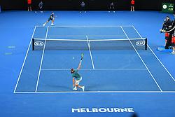 January 20, 2019 - Melbourne, AUSTRALIA - Stefanos Tsitsipas (Gre) wins agains Roger Federer  (Credit Image: © Panoramic via ZUMA Press)