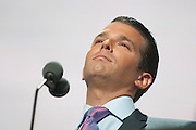 July 19, 2016 - Cleveland, Ohio: Donald Trump Jr. speaks at the Republican National Convention.