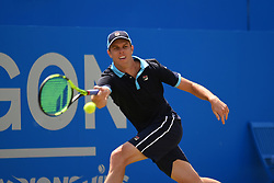June 23, 2017 - London, United Kingdom - Sam Querrey of the US plays the AEGON Championships 2017 quarter final at the Queen's Club, London on June 23, 2017. (Credit Image: © Alberto Pezzali/NurPhoto via ZUMA Press)