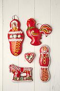 Gingerbread craft of northern Croatia. Decorated gingerbread from Marija Bistrica, Croatia © Rudolf Abraham