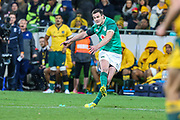 Johnny Sexton of Ireland kicks a conversion during the Australian Wallabies vs Ireland second Mitsubishi Estate test match at AAMI Park, Melbourne, Australia on 16 June 2018. Picture by Martin Keep.