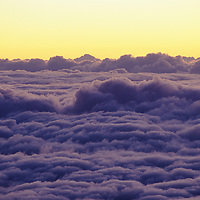 Hawaii, Haleakala sunrise clouds