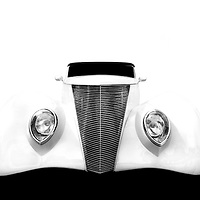 A high contrast edit of an iconic hot rod