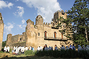 Africa, Ethiopia, Gondar The Royal Enclosure Alem Seghed Fasil's castle