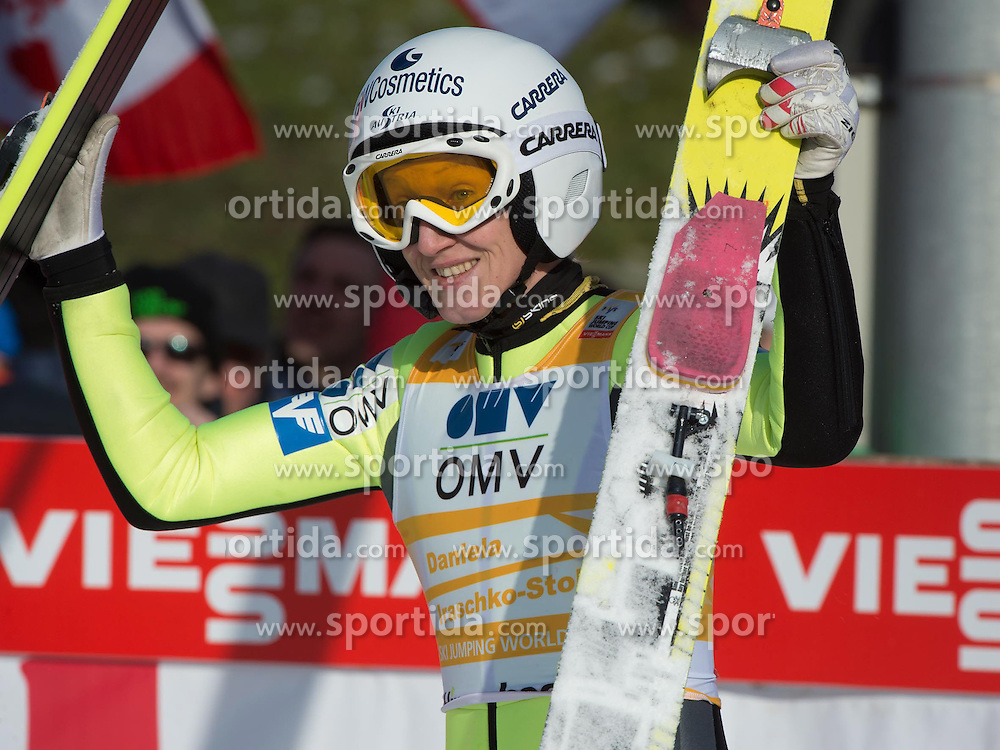 01.02.2015, Energie AG Skisprung Arena, Hinzenbach, AUT, FIS Weltcup Ski Sprung, Hinzenbach, Damen, Wettkampf im Bild Daniela Iraschko-Stolz (AUT) // during FIS Ski Jumping World Cup Ladies at the Energie AG Skisprung Arena, Hinzenbach, Austria on 2015/02/01. EXPA Pictures © 2015, PhotoCredit: EXPA/ Reinhard Eisenbauer