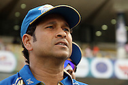 Sachin Tendulkar during match 19 of the Karbonn Smart Champions League T20 between the Perth Scorchers and the Mumbai Indians held at the Feroz Shah Kotla Stadium, Delhi on the 2nd October 2013. Photo by Jacques Rossouw-CLT20-SPORTZPICS <br /> <br /> Use of this image is subject to the terms and conditions as outlined by the CLT20. These terms can be found by following this link:<br /> <br /> http://sportzpics.photoshelter.com/image/I0000NmDchxxGVv4