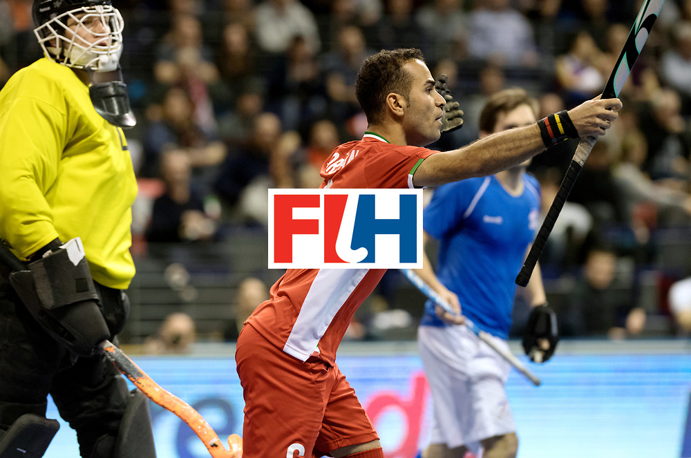BERLIN - Indoor Hockey World Cup<br /> Quarterfinal 1: Iran - Czech Republic<br /> foto: NOORANIAN Hamid.<br /> WORLDSPORTPICS COPYRIGHT FRANK UIJLENBROEK