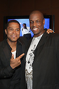 l to r: Maxwell and Dwight Gooden at his Press conference announcing his first new album in eight years, ' BLACKsummers'night,'  held at The Sony Club on April 28, 2009 in New York City