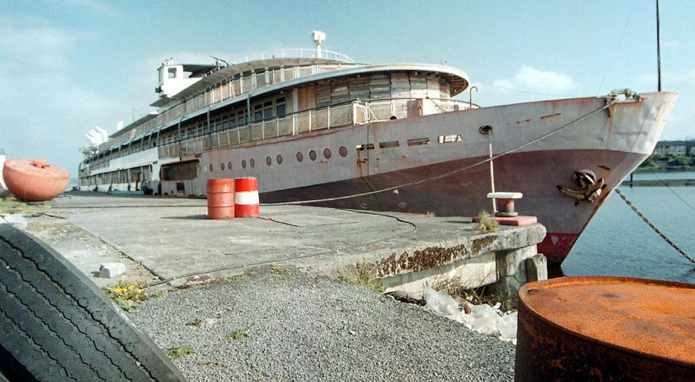 The Russian Ship in Sligo dock, Sligo. Photo: James Connolly/GreenGraph