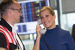 © Licensed to London News Pictures. 11/09/2018. London, UK.  Sophie Countess of Wessex at the 14th Annual BGC Charity Day held on the trading floor of BGC Partners in Canary Wharf, to raise money for charitable causes in commemoration of BGC's 658 colleagues and the 61 Eurobrokers employees lost on 9/11.  Photo credit: Vickie Flores/LNP