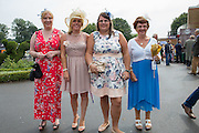 Racegoers at Ladies Day, Fontwell Park Racecourse, Arundel, United Kingdom on 13 August 2015. Photo by Phil Duncan.