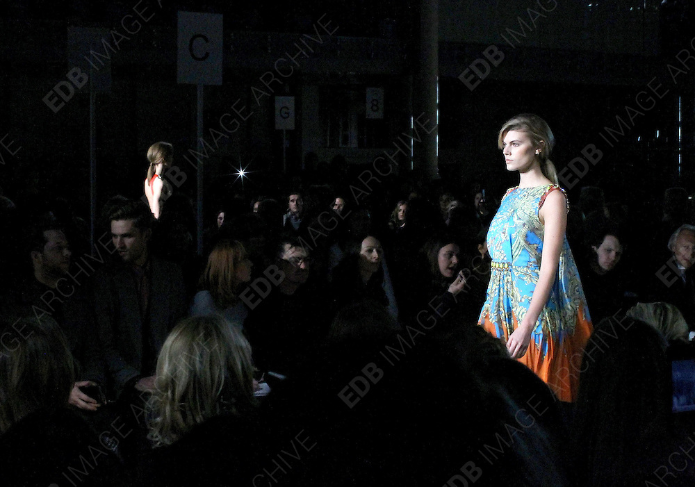 19.FEBRUARY.2012. LONDON<br /> <br /> MODELS AT THE MATTHEW WILLIAMSON FASHION SHOW AT LONDON FASHION WEEK AT THE ROYAL OPERA HOUSE IN LONDON<br /> <br /> BYLINE: EDBIMAGEARCHIVE.COM<br /> <br /> *THIS IMAGE IS STRICTLY FOR UK NEWSPAPERS AND MAGAZINES ONLY*<br /> *FOR WORLD WIDE SALES AND WEB USE PLEASE CONTACT EDBIMAGEARCHIVE - 0208 954 5968*