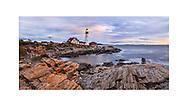 The classic of all classic New England Lighthouses, The Portland Head Light, or Portland Lighthouse, Cape Elizabeth, Maine, USA