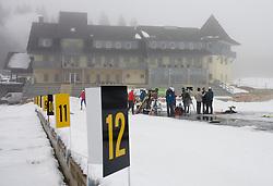 Hotel center at Pokljuka,  on November 16, 2009, in Pokljuka, Slovenia.   (Photo by Vid Ponikvar / Sportida)