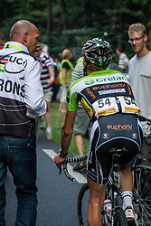 Rhenen, The Netherlands - Dutch Food Valley Classic (UCI 1.1) - 23th August 2013 - Crelan-Euphony rider riding to the anti-doping control