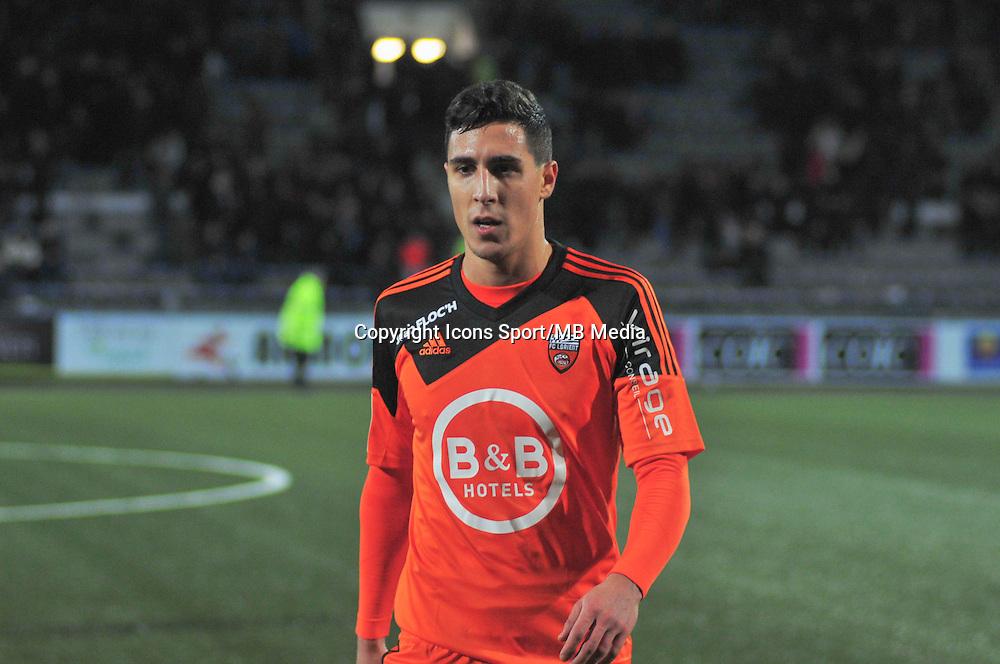 Gianni Bruno  - 17.01.2015 - Lorient / Lille - 21eme journee de Ligue 1 <br /> Photo : Phillipe Le Brech / Icon Sport