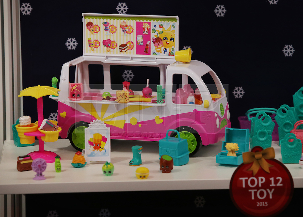 © Licensed to London News Pictures. 04/11/2015. London, UK. A shopkins Food Fair Scoops Ice Cream Truck is displayed at the Dream Toys Christmas event. Photo credit: Peter Macdiarmid/LNP