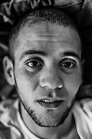 Day 41. 23 refugees seeking asylum in Belgium stopped eating on the 14th of January. They found shelter in the VUB.  Free University of Belgium. In this picture Mohammed, age 23 came from Algeria in  2009, lost 13 kilograms, now 45 kg. Belgium, Brussels, 12 February 2012