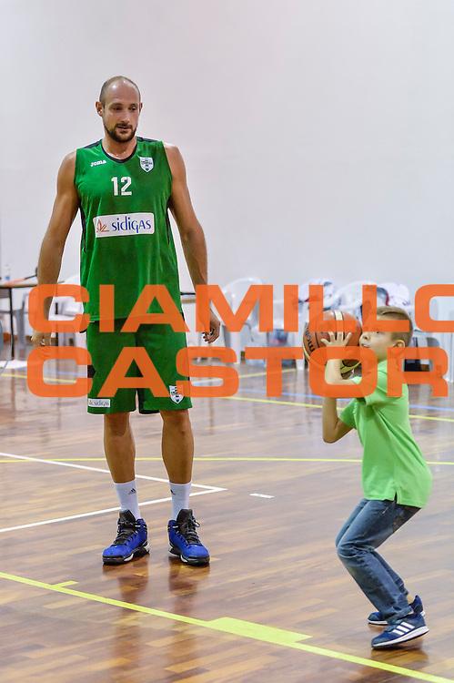 Marco Cusin<br /> Banco di Sardegna Dinamo Sassari - Sidigas Scandone Avellino<br /> Precampionato 2016/2017<br /> Padru 07/09/2016<br /> Foto Ciamillo-Castoria