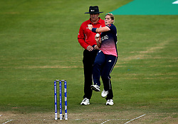 Katherine Brunt of England Women bowls - Mandatory by-line: Robbie Stephenson/JMP - 09/07/2017 - CRICKET - Bristol County Ground - Bristol, United Kingdom - England v Australia - ICC Women's World Cup match 19