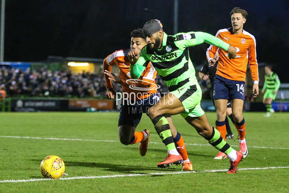 Forest Green Rovers Dan Wishart(17) runs forward during the EFL Sky Bet League 2 match between Forest Green Rovers and Luton Town at the New Lawn, Forest Green, United Kingdom on 16 December 2017. Photo by Shane Healey.