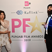 Arrivers at the BritAsiaTV Presents Kuflink Punjabi Film Awards 2019 at Grosvenor House, Park Lane, London,United Kingdom. 30 March 2019