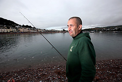 UK ENGLAND DEVON TEIGNMOUTH 10SEP16 - Angler Pete Davey (48), a chef of Lapford at Teignmouth harbour, Devon, England.<br /> <br /> jre/Photo by Jiri Rezac<br /> <br /> © Jiri Rezac 2016