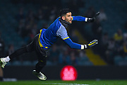 Francisco Casilla of Leeds United (33) warming up during the EFL Sky Bet Championship match between Leeds United and West Bromwich Albion at Elland Road, Leeds, England on 1 March 2019.