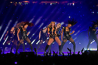 3 February 2013: Beyonce performs during halftime of the Baltimore Ravens 34-31 victory over the San Francisco 49ers in Superbowl XLVII at the Mercedes-Benz Superdome in New Orleans, LA.